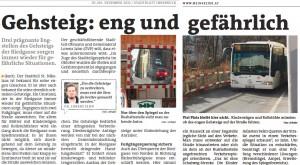 Das Stadtblatt hatte berichtet