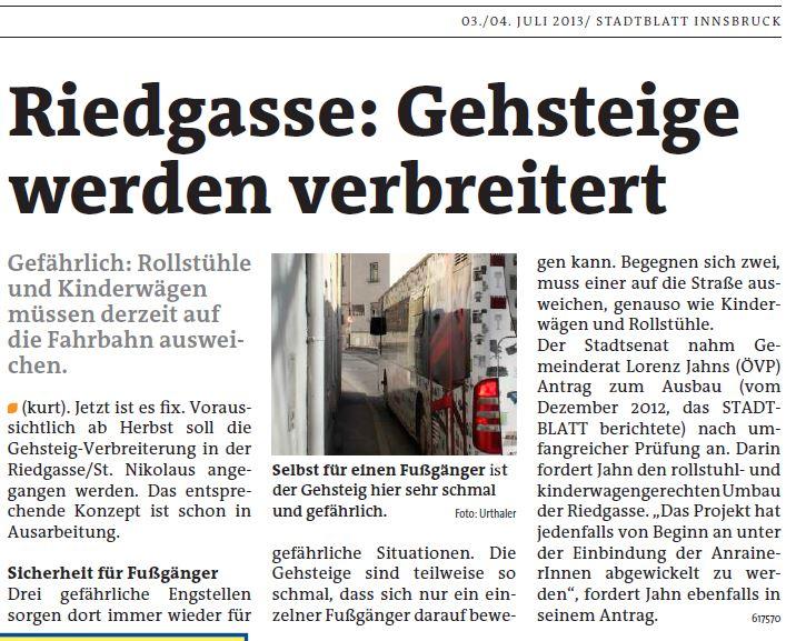 Stadtblatt vom 13.7.2013